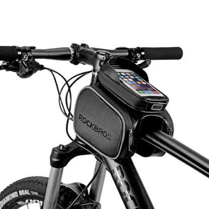 Фото велосумка с держателем для телефона и боковыми карманами