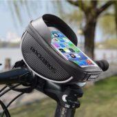 Велосумка на руль с держателем для телефона до 6 дюймов