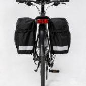 Фото велосумка — штаны на багажник Sahoo 28 л., черная