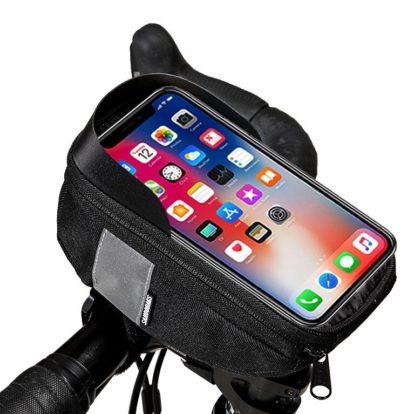 Фото сумка на руль велосипеда с держателем для телефона Sahoo