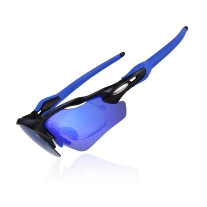 Велоочки Rockbros с диоптриями синие