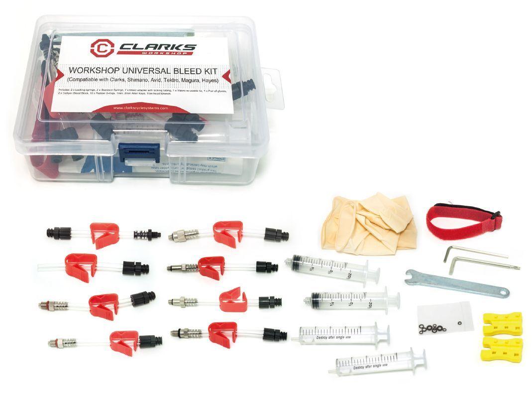 Фото набор для прокачки гидравлических тормозов, универсальный CLARK`S