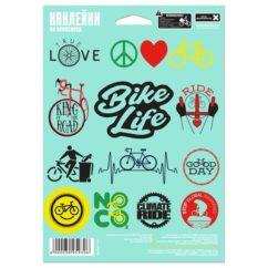 """Фото наклейки на раму велосипеда """"Bike life"""""""