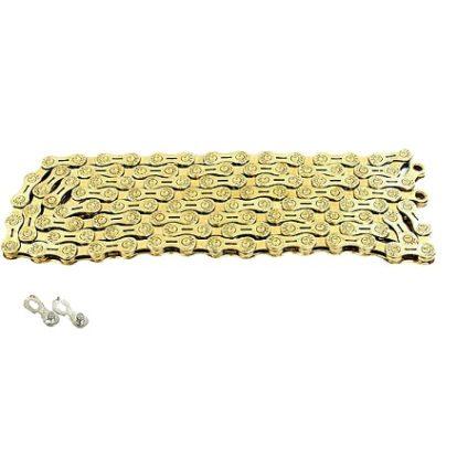 Велосипедная цепь на 6-7-8 скоростей золотая