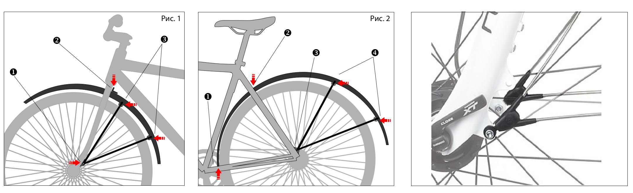 Щитки крылья велосипед крепить