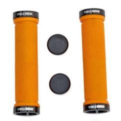 Фото грипсы на руль велосипеда Vinca Sport, 129 mm., резина, оранжевый