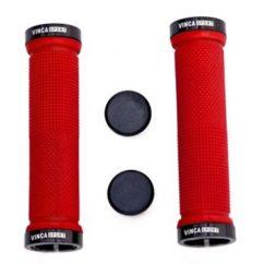 Фото грипсы на руль велосипеда Vinca Sport, 129 mm., резина, красные