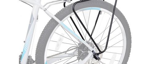 """Фото багажник для велосипеда регулируемый, крепление на эксцентрик 24-29"""""""