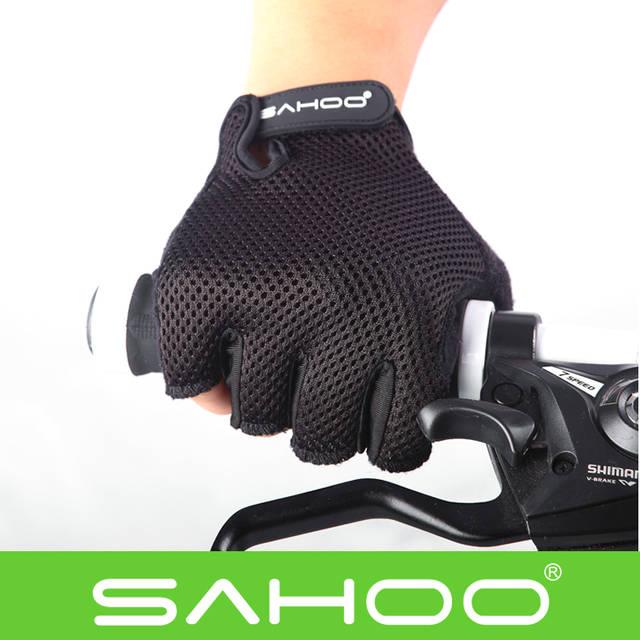 Велоперчатки Sahoo черные размер XXL