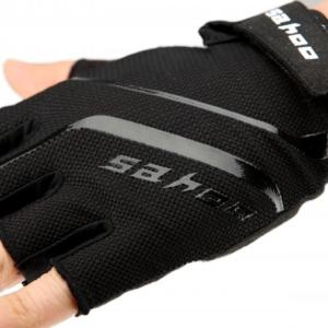 Перчатки велосипедные Sahoo черные, без пальцев, размер XL