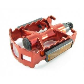 Педали для велосипеда Vinca Sport, алюминиевые, 95x65mm, красные