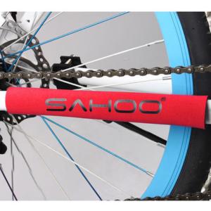Защита подвески от цепи для велосипеда Sahoo красная