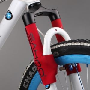 Защита передней вилки для велосипеда Sahoo красная