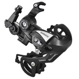 Переключатель задний для велосипеда на 6-7 скоростей Shimano TX55 (черный) крюк