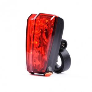 Задний фонарь с лазерными дорожками для велосипеда Vinca Sport, 5 диодов