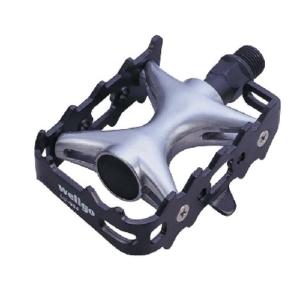 Педали под туклипсы для велосипеда, Wellgo LU-964, алюминиевые, черные