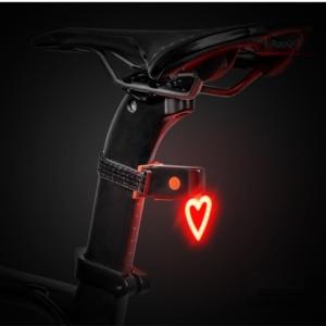Задний фонарь для велосипеда Sahoo, USB сердце