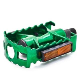 Педали для велосипеда Vinca Sport, алюминиевые, 95x65mm.,зеленые