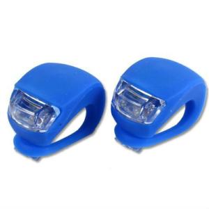 Велофонари для велосипеда силиконовые синий свет
