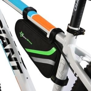 Сумка под раму велосипеда Rockbros (черно-зеленая)