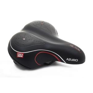 Седло для велосипеда с пружинами Vinca Sport Azuro, черное-красное