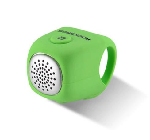 Велозвонок электронный Rockbros силиконовый, 90дБ зеленый