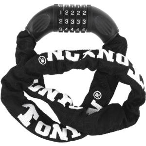 Велозамок цепной кодовый Tonyon черный 900мм