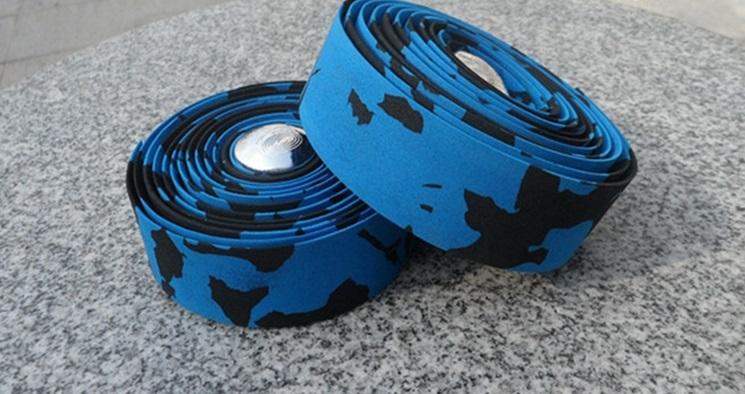 Обмотка для велосипедного руля, сине-черная