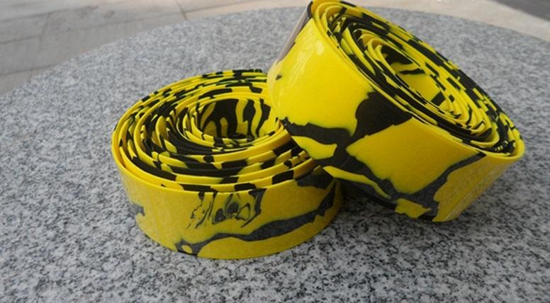 Обмотка для велосипедного руля, желто-черная
