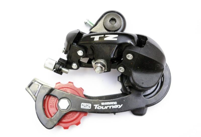 Переключатель задний для велосипеда на 6 скоростей Shimano TZ50 (черный)