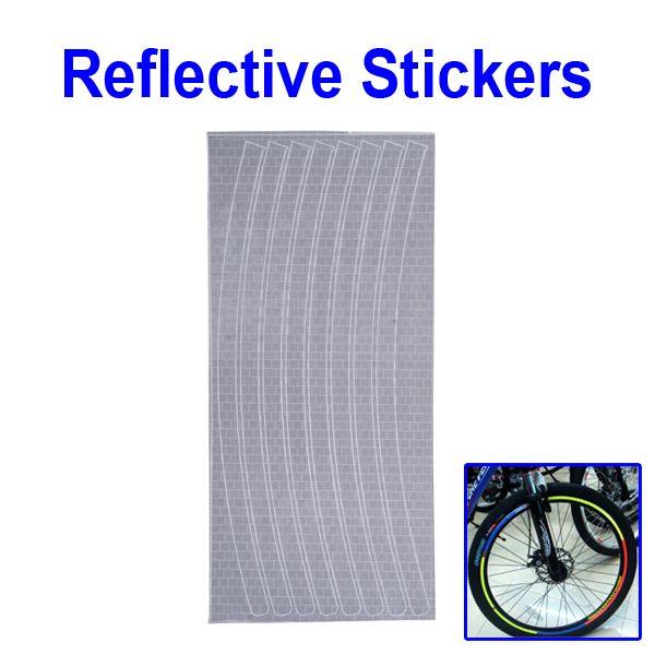 Светоотражающие наклейки на обод для велосипеда серебристые