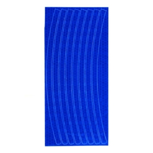 Светоотражающие наклейки на обод для велосипеда синие