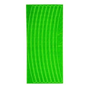 Светоотражающие наклейки на обод для велосипеда зеленые
