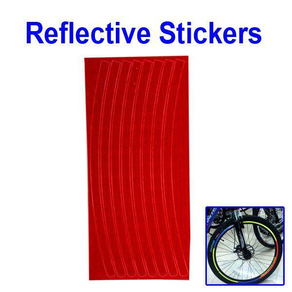 Светоотражающие наклейки на обод для велосипеда красные