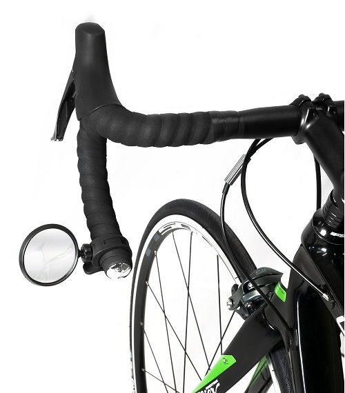 Зеркало для велосипеда Force поворотный силиконовый держатель, черное