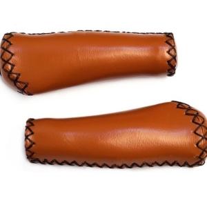 Грипсы MTB 130mm эргономические, коричневые, кожзам