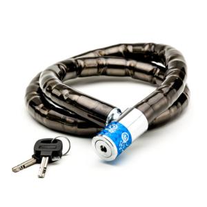 Велозамок цепной на ключ HW черный 22-1000 мм