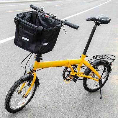 Корзина на руль для велосипеда, тканевая, черная