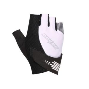 Перчатки велосипедные Sahoo бело-черные, размер XXL