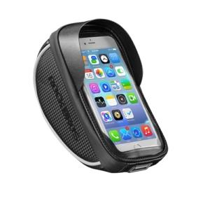 """Велосумка на руль Rockbros с держателем для телефона до 6"""" (черная)"""