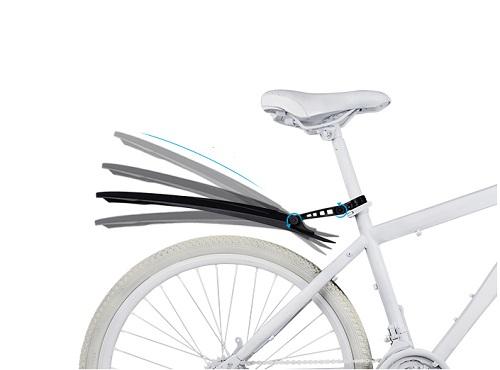Комплект грязезащитных щитков для велосипеда, черный