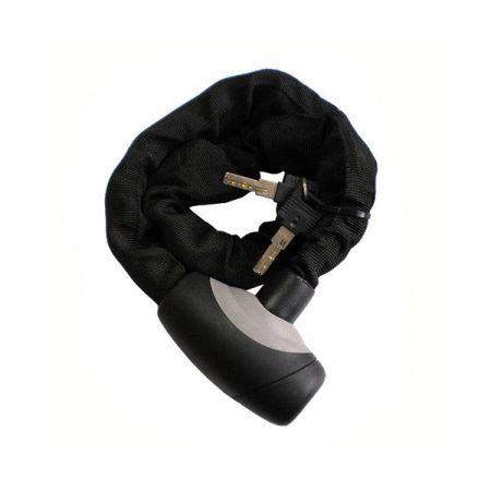 Велозамок цепной на ключ HW черный 6,5 - 1000