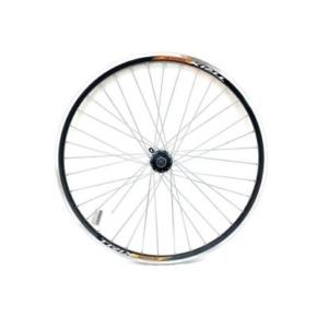 """Колесо заднее для велосипеда 26""""V-brake, под кассету 8/9/10s, пром. подшипник, черное"""