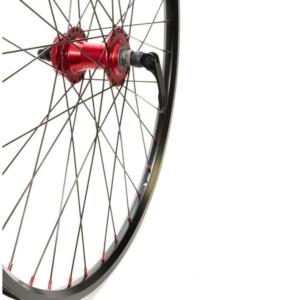 """Колесо переднее для велосипеда 26"""",Disk красно-черное"""