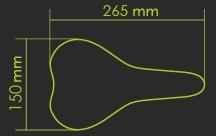 Седло для велосипеда DDK-D040 RACING, черное